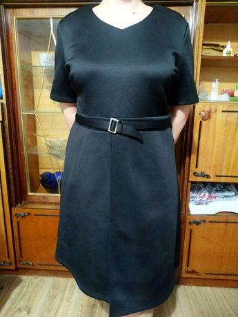 Черное платье неопрен 18 размер (50-54)