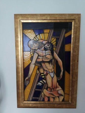 Witraż tiffany oryginalny ręcznie malowany