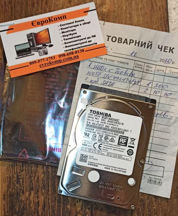 HDD  200Gb,жёсткий диск для ноутбука,компьютера.2.5 Буча - изображение 1