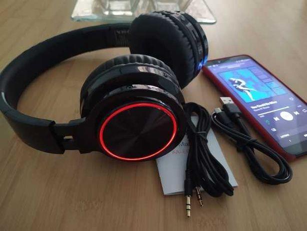 Auricular Bluetooth – Fone de ouvido sem fios – LED – Novo Garantia