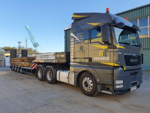 Transport niskopodwoziowy, gabaryty, transport koparek maszyn 37 ton