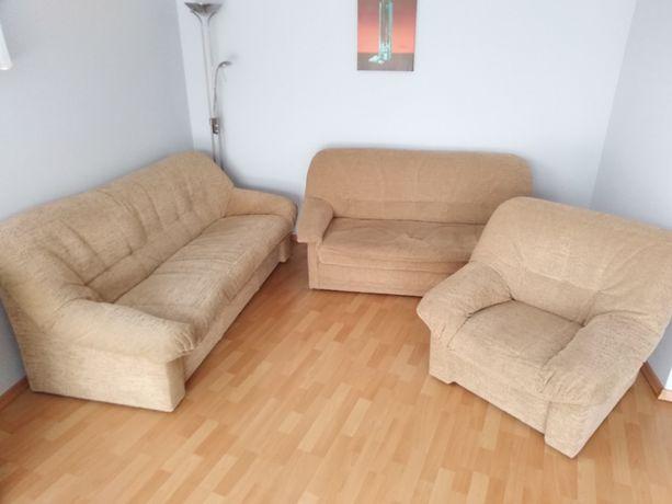 Komplet wypoczynkowy rozkładana sofa, kanapa, fotel