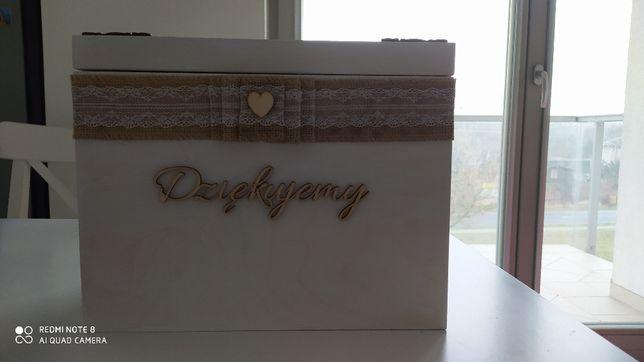 Skrzynka pudełko na koperty ślubne zamykana