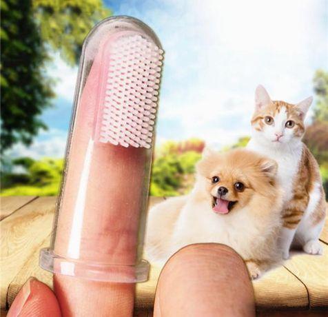 Силиконовый напалечник для чистки зубов у собак,котов