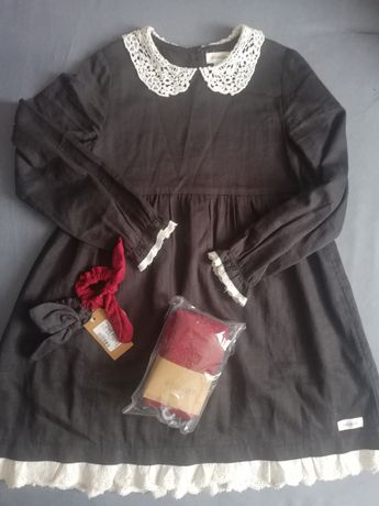 Sukienka newbie kappahl plus gumeczki plus rajstopki
