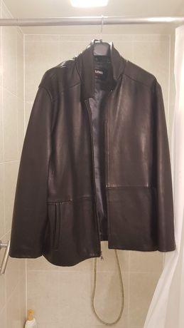 Męska kurtka skórzana czarna xxl