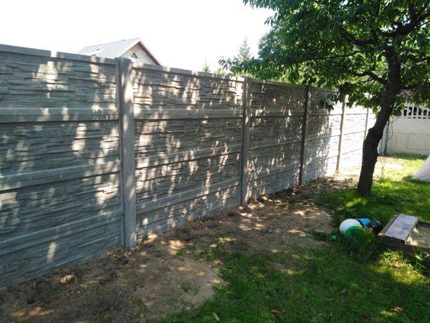 ogrodzenia betonowe, montaż