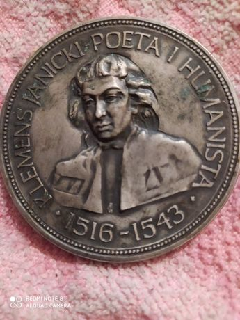 Медаль Klemens Janicki Poeta i Humanista 1516-1543