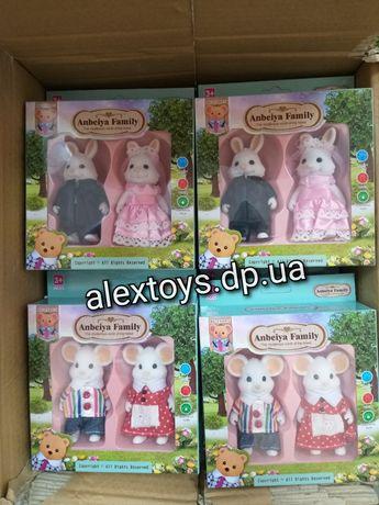 Семья флоксовые животные happy family сильвания фемили мишки мышки зай