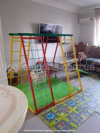 Детский спортивный комплекс, качели, игровая площадка, горка, мат