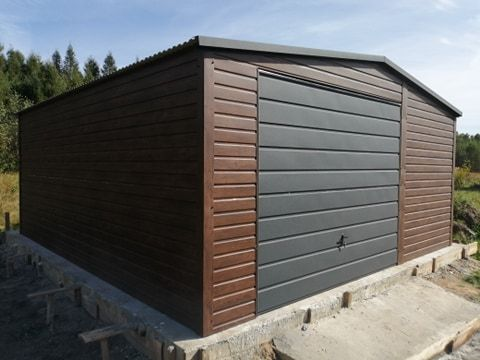 garaż blaszany blaszak garaże blaszane Premium mocny profil zamknięty