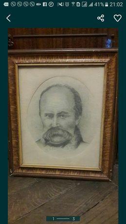 Портрет Т.Г. Шевченко в карандаше