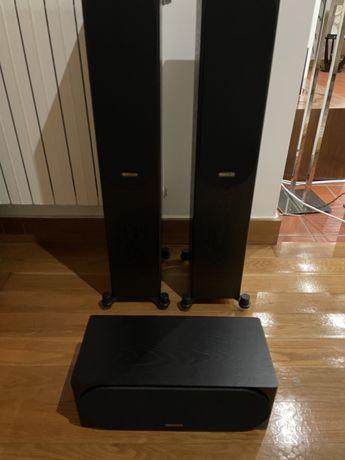 Colunas monitor audio silver 200 + coluna central silver C150