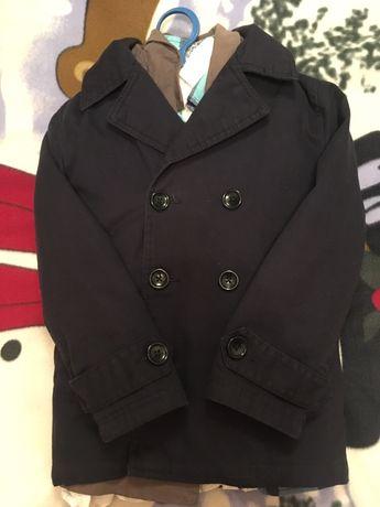 Тёмно-синий пиджак для мальчика на 7-8 лет