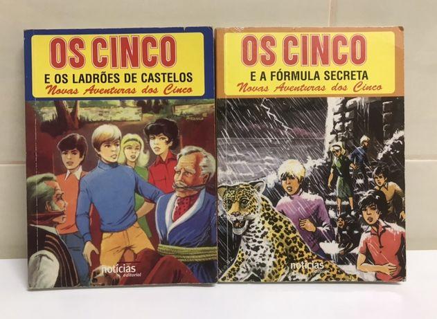 """Livros """"Os Cinco..."""" números 4 e 5"""