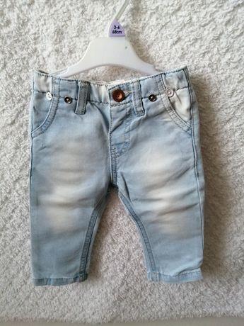 Spodnie jeansy zara 68