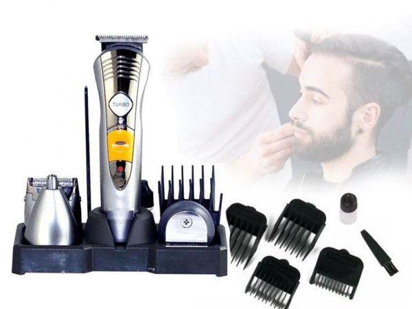 Триммер для бороды, усов, носа, Машинка для стрижки волос 4в1 Gemei, С