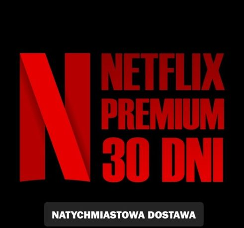 NETFLIX 30 Premium PL 4K/UHD 30 DNI TV/OC Gwarancja! Tanio!