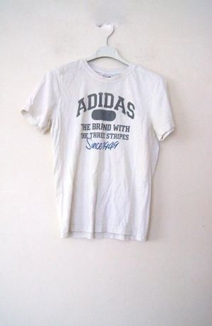 ADIDAS bialy t-shirt biala koszulka bluzka dla chlopca 152cm 11-12 lat