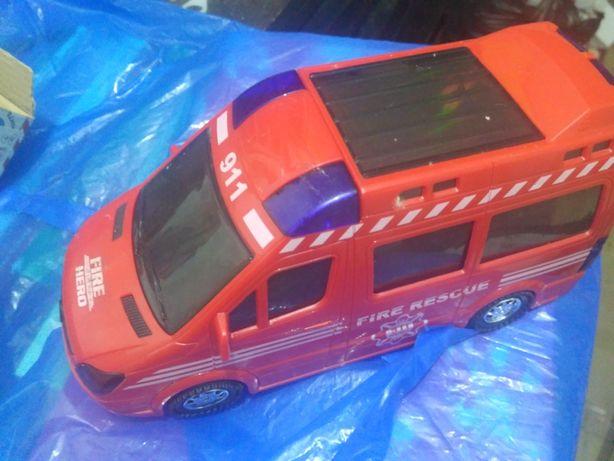 Пожежна машинка іграшка, зі світлодіодами та звуком