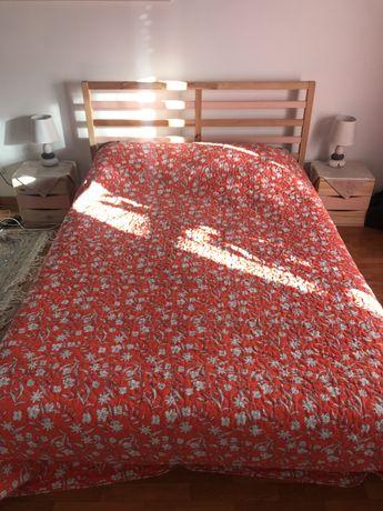 Cama Novas, Model TARVA IKEA +2 Mesas de cabeceira+ Colchão de molas(I