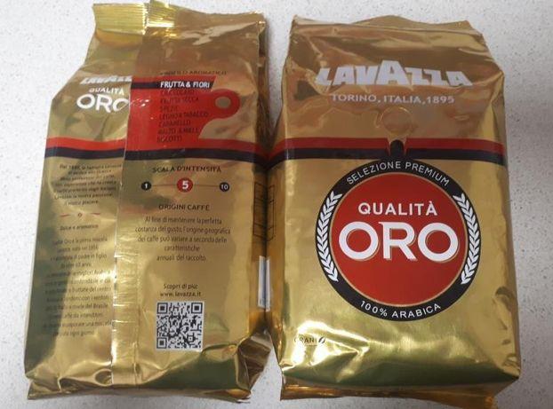 Кава Кофе Lavazza Qualita Oro в зернах 1 кг, (Лавацца Оро)
