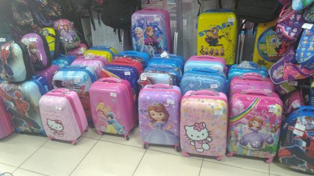 Детский чемодан для девочки мальчика Трансформер София Китти Маквин