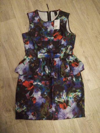 Новое платье с баской H&M размер 38 (наш 44 размер)