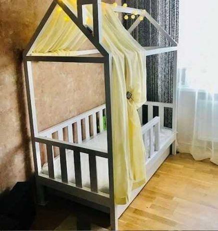 Кровать домик массив дерева ольхи сосны.Будиночок ліжко дитяче.арт 22