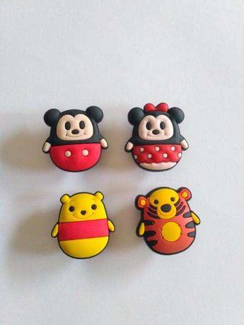Disney Tsum tsum - Pins mickey, minnie, pooh e tigre (crocs)