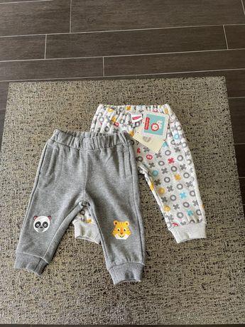 Продам новые детские штанишки (2шт), теплые, р.68, Fisher-Price,Польша