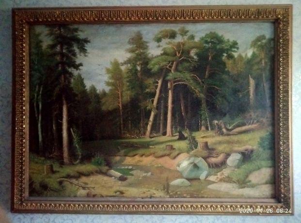 Картина маслом, старая