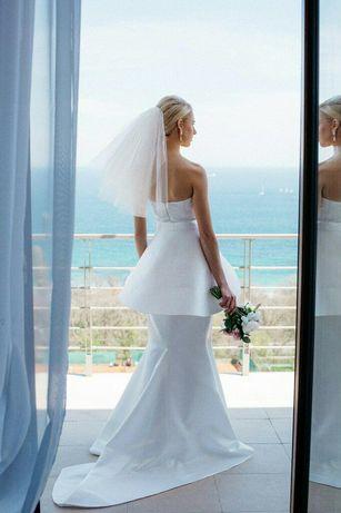 Божественно-стильное свадебное платье.Размер xs-s