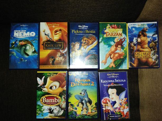Bajki Disney, Kasety VHS, stan idealny.