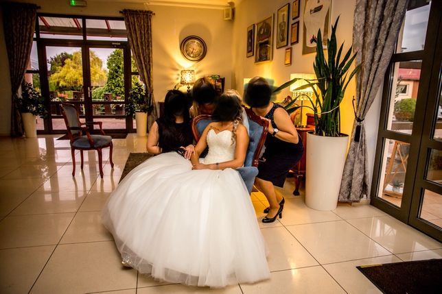 Suknia ślubna DIAMOND La lucienne roz.38 kolor Ecru PRINCESSA
