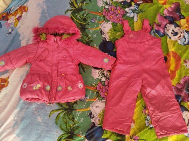 Куртка+комбинезон зимний для девочки
