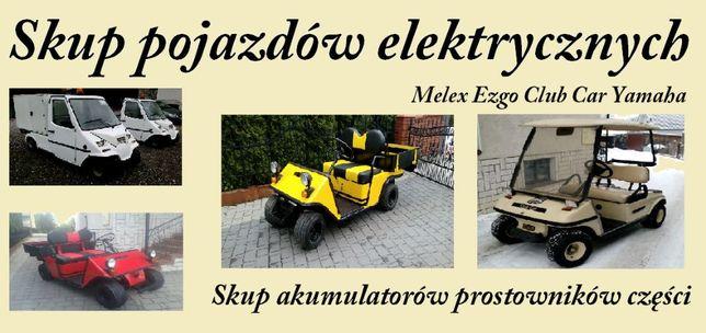 Skup pojazdów Melex Club Car ... Skup akumulatorów prostowników części