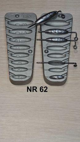 Forma wędkarska do odlewania ciężarków 4/6/8/10/12/15/20/30 gr.