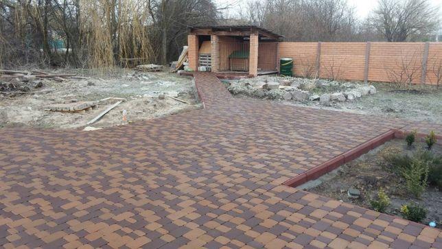 Укладка тротуарної плитки, гранітної брущатки