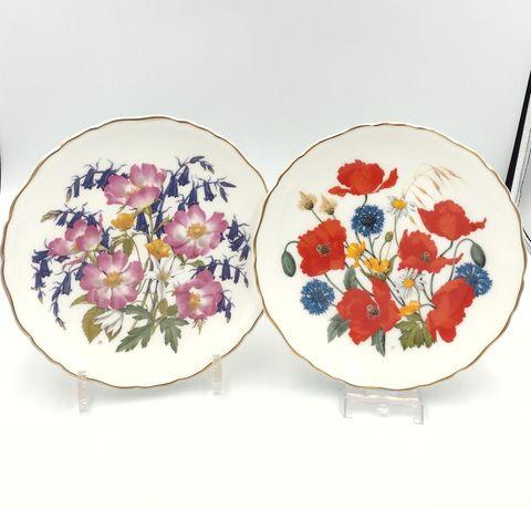 Talerze kolekcjonerskie Royal Albert porcelana retro kwiaty vintage
