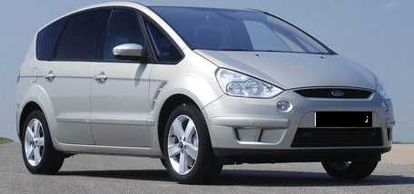 Carro monovolume Ford - Smax 1.8 tdci  - cinza ano 2008 7 lugares