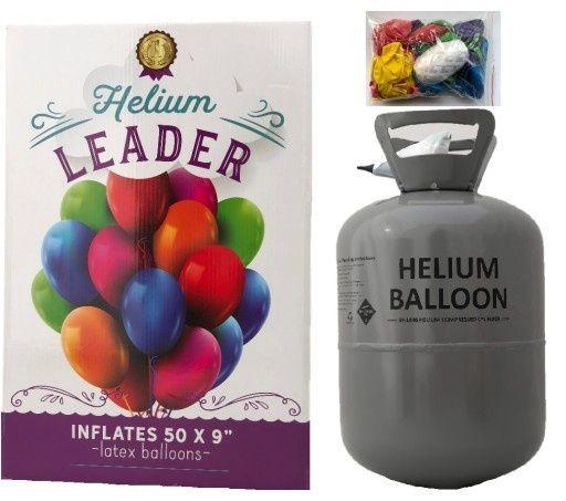 Butla z helem 0,42 m3 na 50 szt. balonów + balony