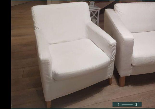Fotel karlstad biały ikea