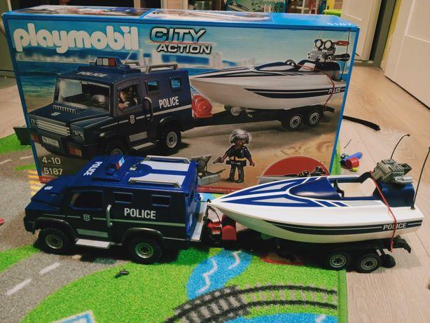 Playmobil łódka z autem