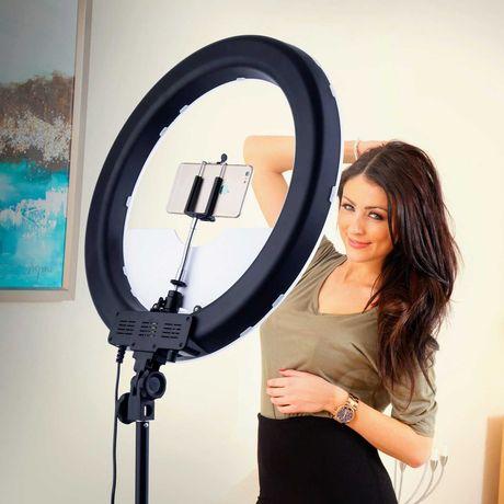 Кольцевая светодиодная лампа 26см со штативом