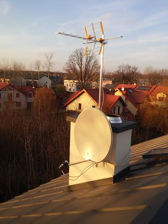 Antena satelitarna 80cm /Montaż anten SAT i DVB-T