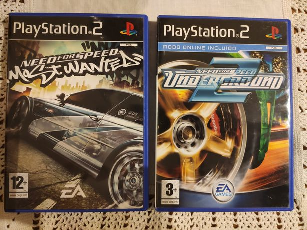 Pack Need for speed underground 2 e Need for speed Most wanted - ps2