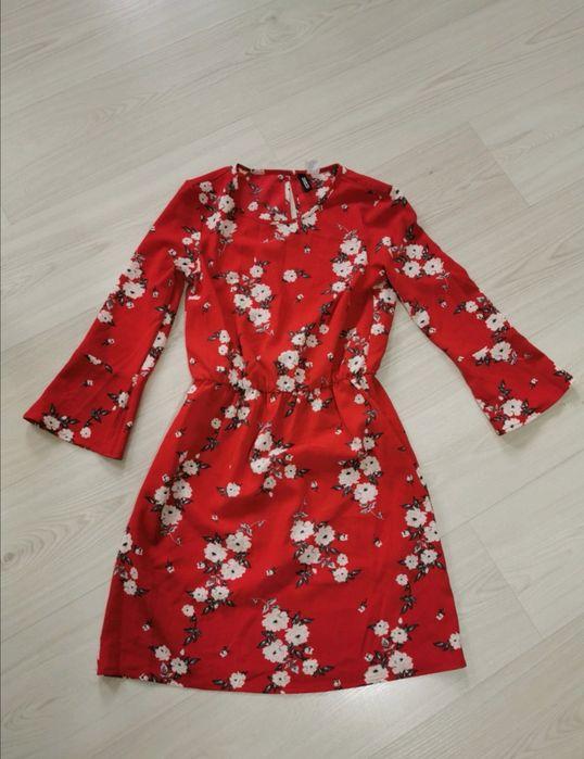 Czerwona sukienka H&M Jugów - image 1