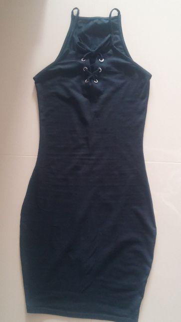 Czarna sukienka sexi , rozm.XS