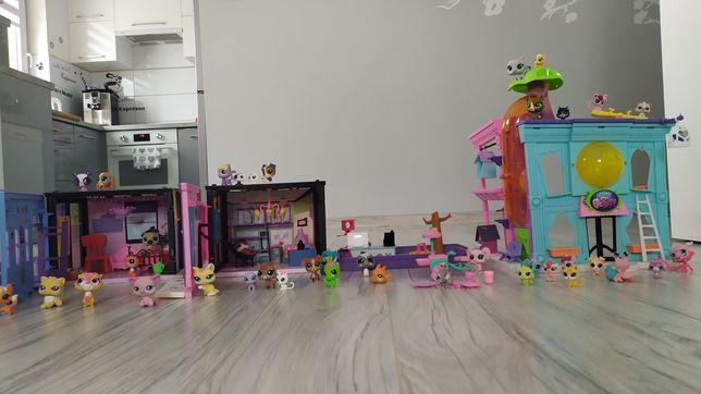 Domki Pets Shop plus plac zabaw i sklep i 38 pethshopow